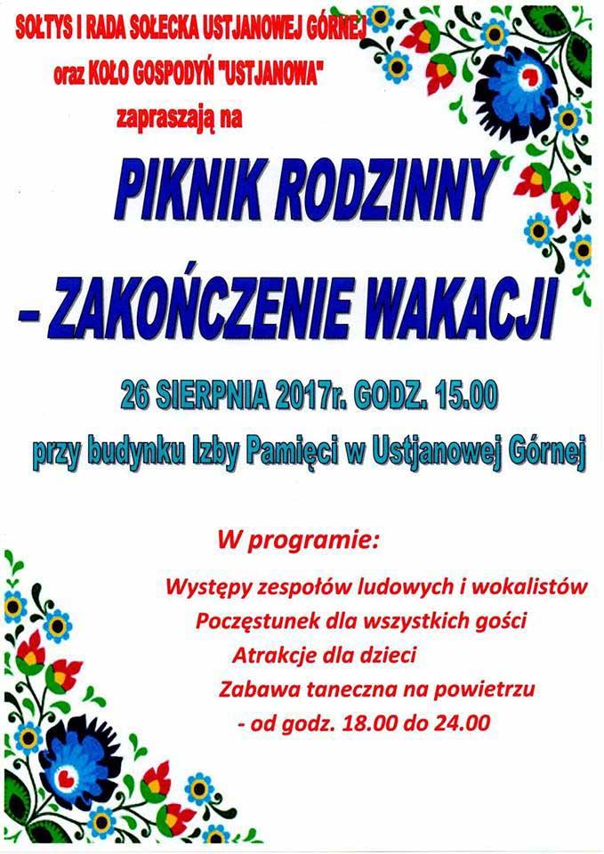 Piknik Rodzinny - Zakończenie Wakacji w Ustjanowej Górnej