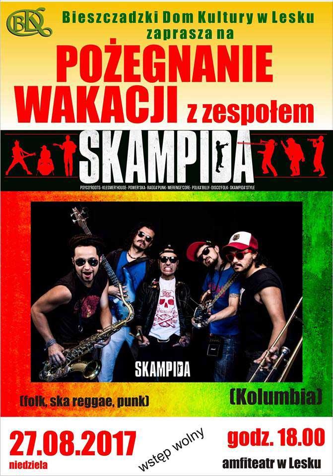 Pożegnanie wakacji z zespołem SKAMPIDA w Lesku