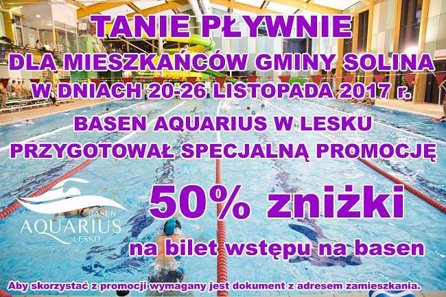 Tanie pływanie dla mieszkańców Gminy Solina