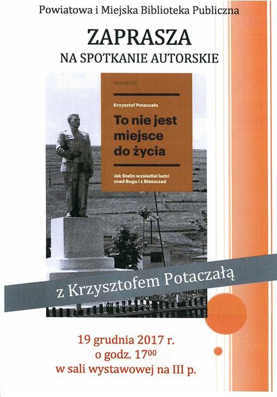 Spotkanie autorskie z Krzysztofem Potaczałą