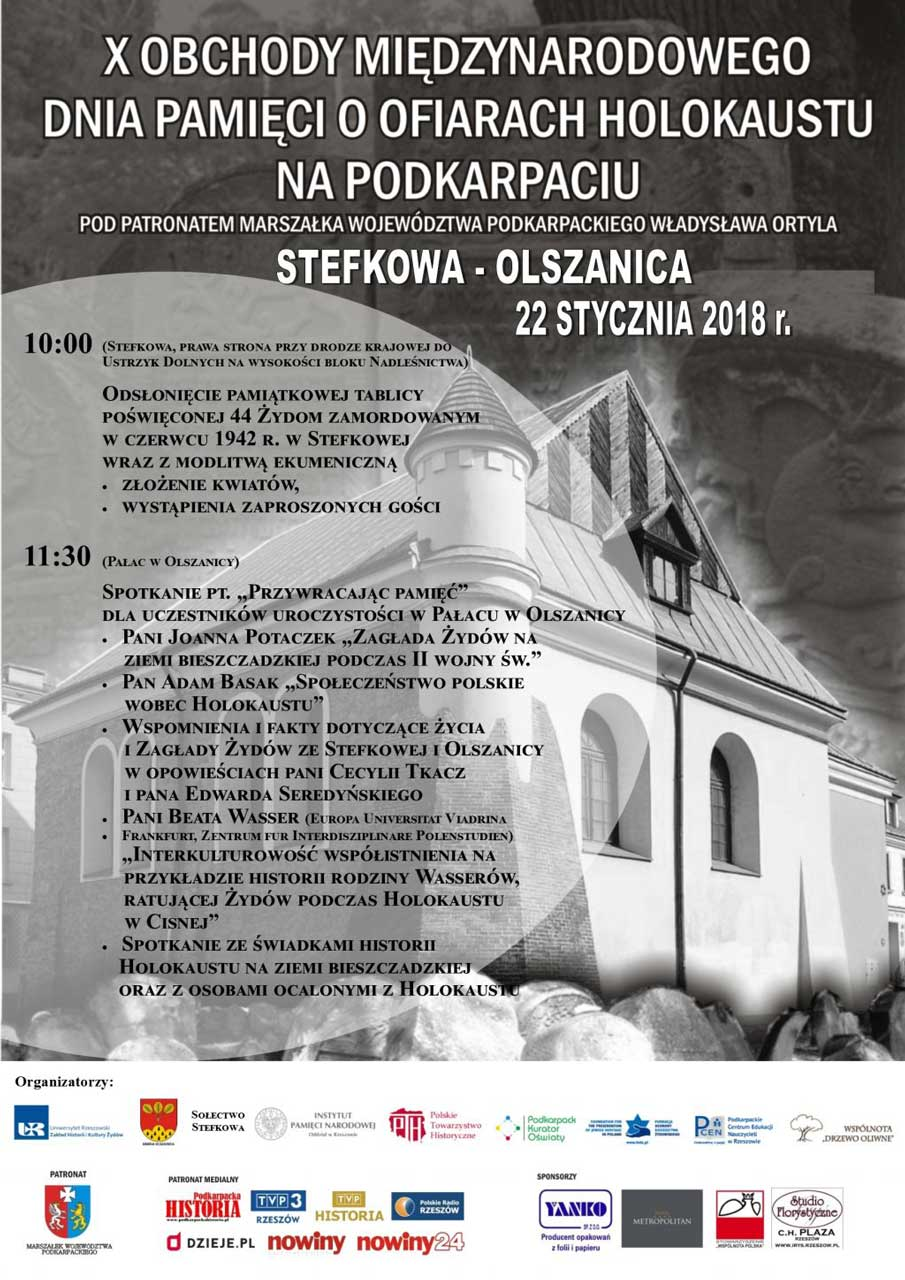 Obchody Międzynarodowego Dnia Pamięci o Ofiarach Holokaustu