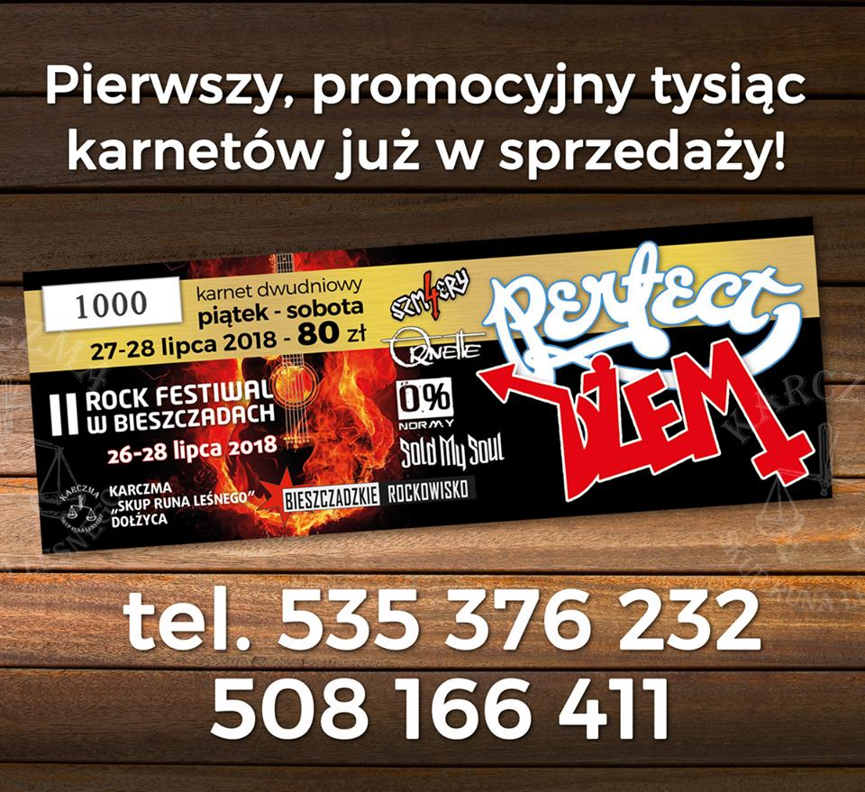 Karnety na II Rock Festiwal w Bieszczadach