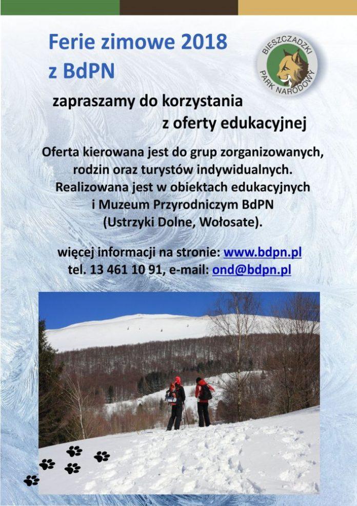 Ferie zimowe z Bieszczadzkim Parkiem Narodowym