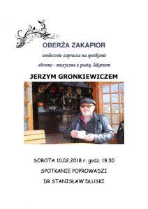 Wieczory poetyckie z Jerzym Gronkiewiczem