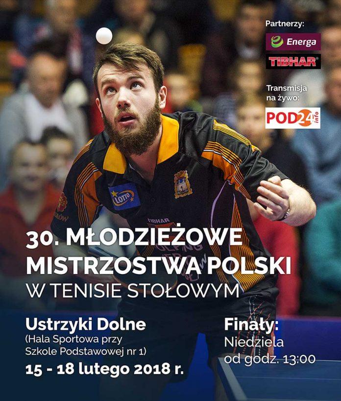 Młodzieżowe Mistrzostwa Polski w Tenisie Stołowym w Ustrzykach Dolnych