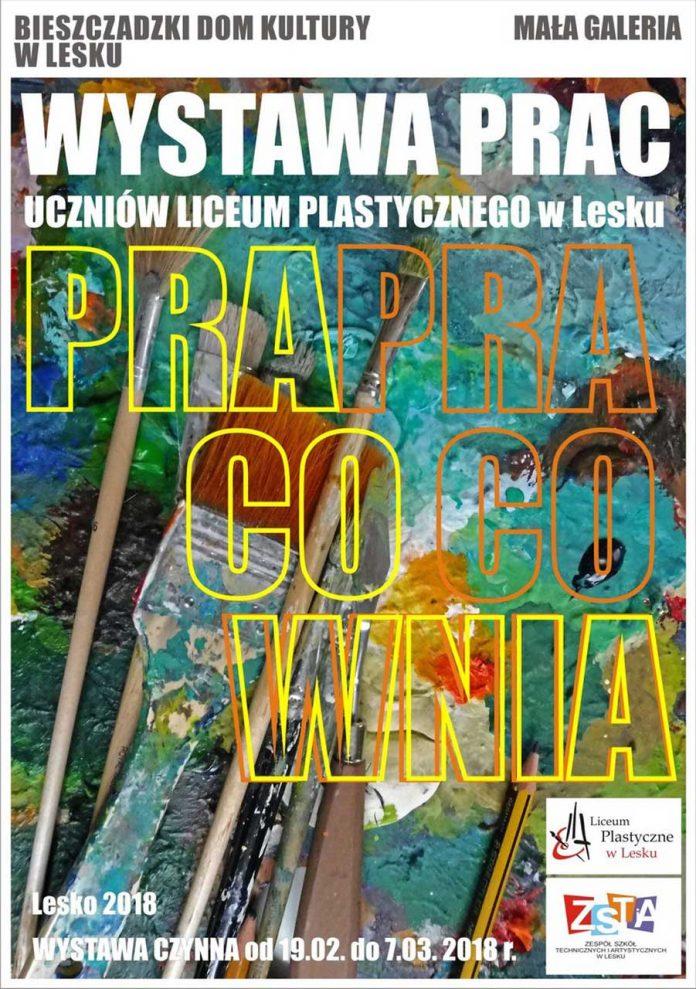 Wystawa prac uczniów Liceum Plastycznego w Lesku