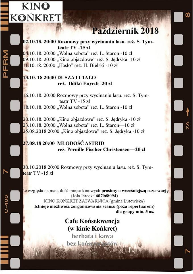 Kino Końkret w Zatwarnicy