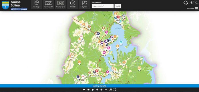 Wirtualna mapa Gminy Solina