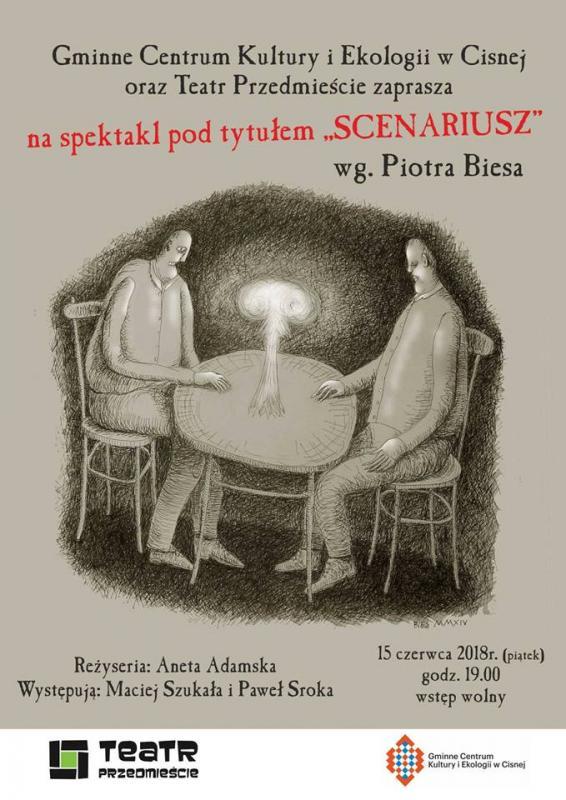 """Spektakl pod tytułem """"SCENARIUSZ"""" w Cisnej"""
