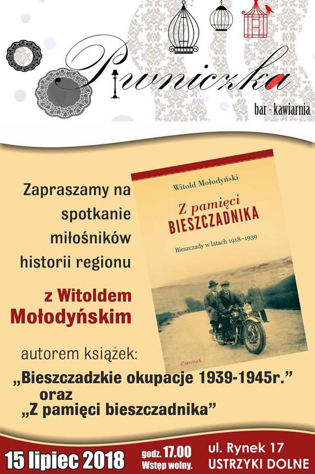 Spotkanie z Witoldem Mołodyńskim w Ustrzykach Dolnych