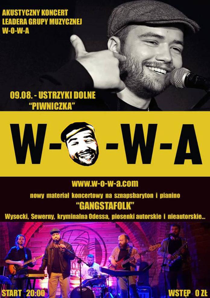 Akustyczny koncert lidera grupy muzycznej W-O-W-A
