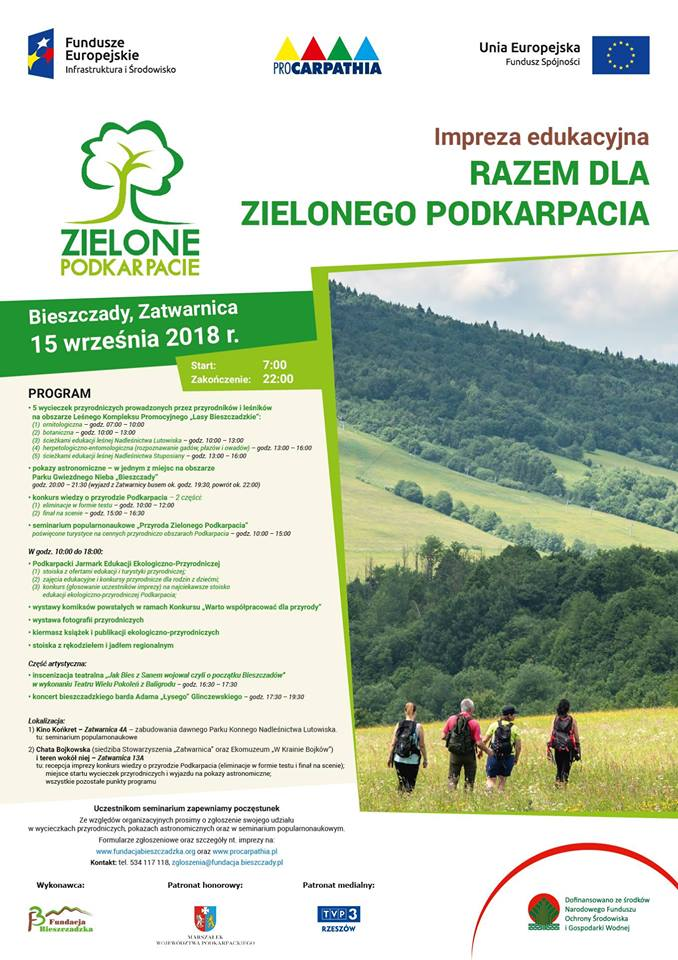Impreza Edukacyjna Razem Dla Zielonego Podkarpacia w Zatwarnicy