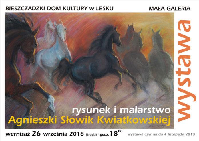 Wystawa - Rysunek i malarstwo Agnieszki Słowik Kwiatkowskiej w Lesku