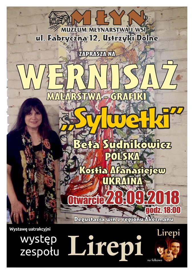 Wernisaż malarstwa i grafiki Beaty Sudnikowicz i Kostii Afanasiejewicza w Ustrzykach Dolnych