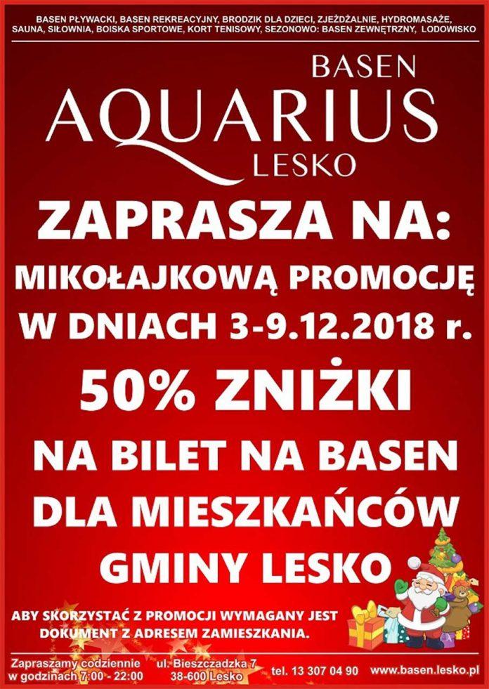 Basen AQUARIUS. Mikołajkowa promocja dla mieszkańców Gminy Lesko