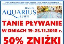 Tanie pływanie dla mieszkańców Gmin: Baligród - Cisna - Olszanica na Basenie Aquarius w Lesku