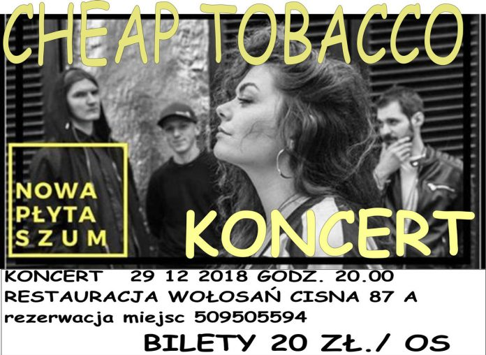 Koncert Cheap Tobacco w Cisnej