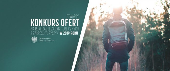Otwarty konkurs ofert na realizację zadań publicznych z zakresu turystyki w 2019 roku