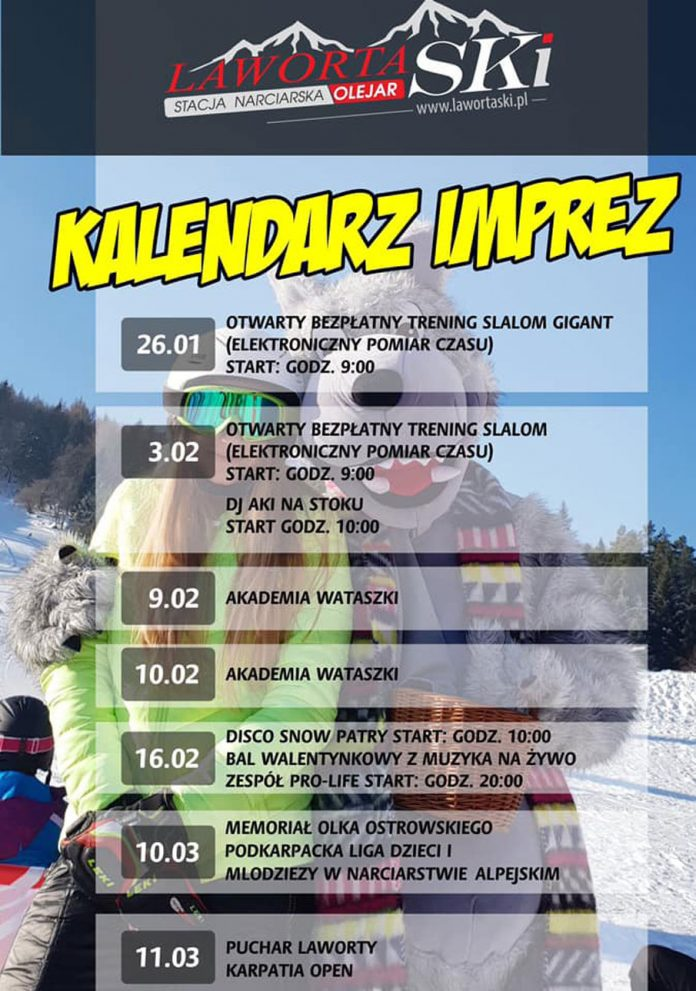 Zimowy kalendarz imprez na stacji narciarskiej LAWORTA SKI