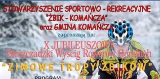 """X Bieszczadzki Wyścig Rowerów Górskich """"ZIMOWE TROPY ŻBIKÓW 2019"""""""