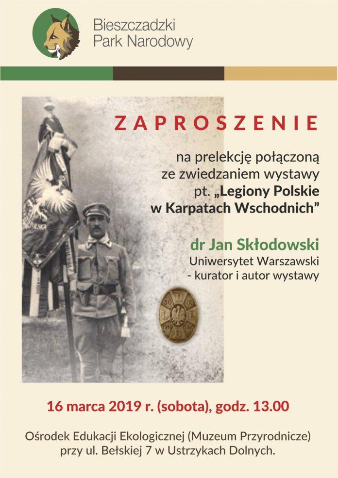 """Prelekcja i wystawa """"Legiony Polskie w Karpatach Wschodnich"""" w Ustrzykach Dolnych"""