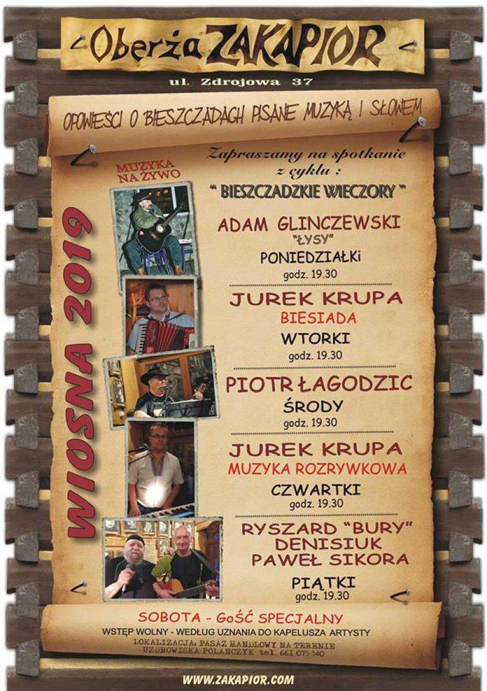 Wiosenne koncertowanie w Oberży Zakapior w Polańczyku