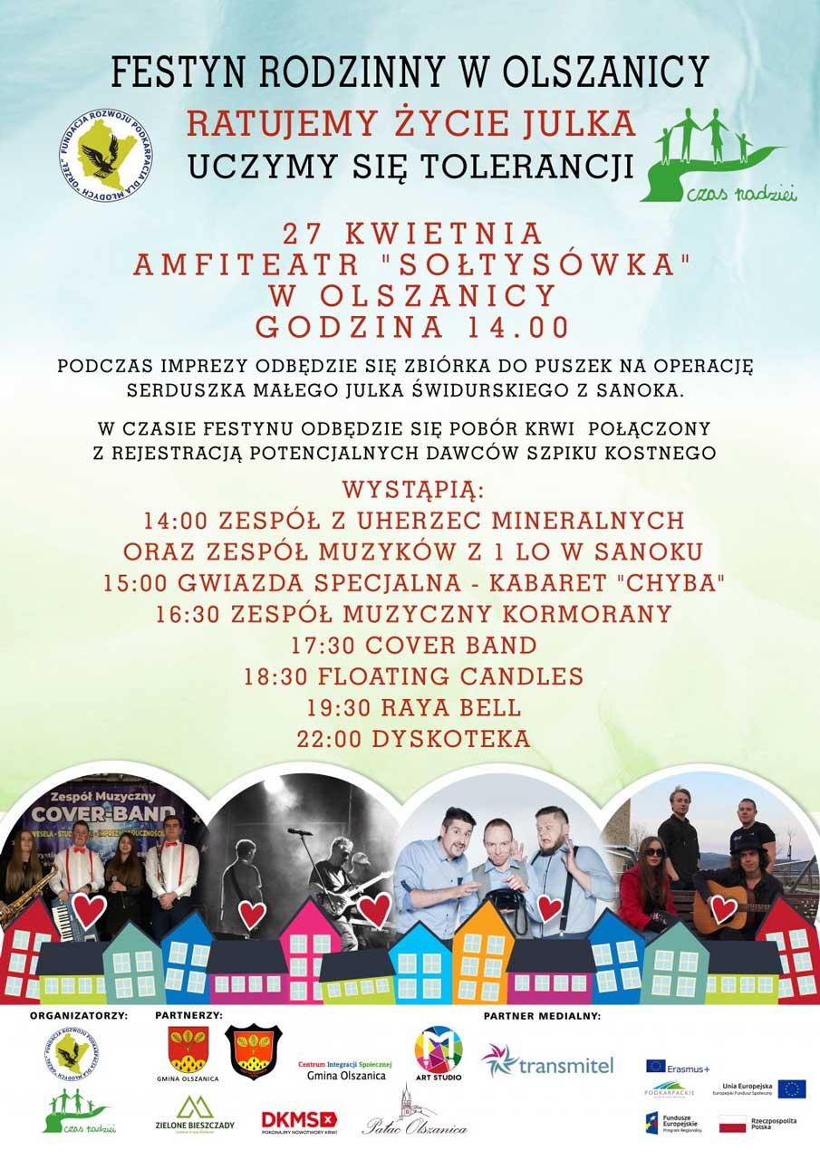 Festyn Rodzinny w Olszanicy - Ratujemy Życie Julka