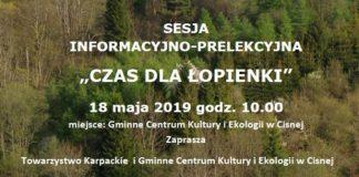 """""""Czas dla Łopienki"""" sesja informacyjno-prelekcyjna w Cisnej"""