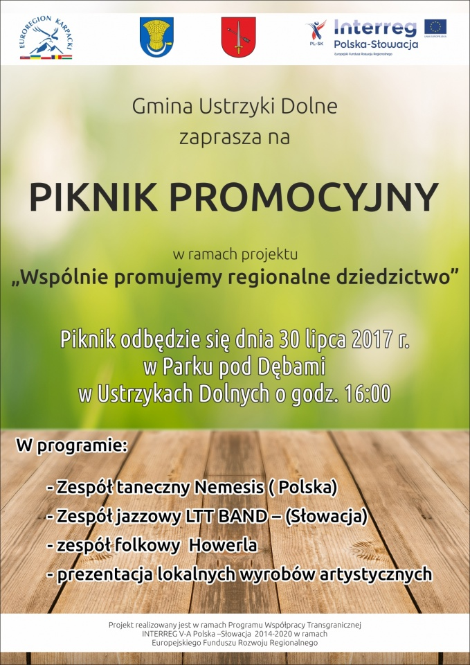 Piknik promocyjny: Wspólnie promujemy regionalne dziedzictwo