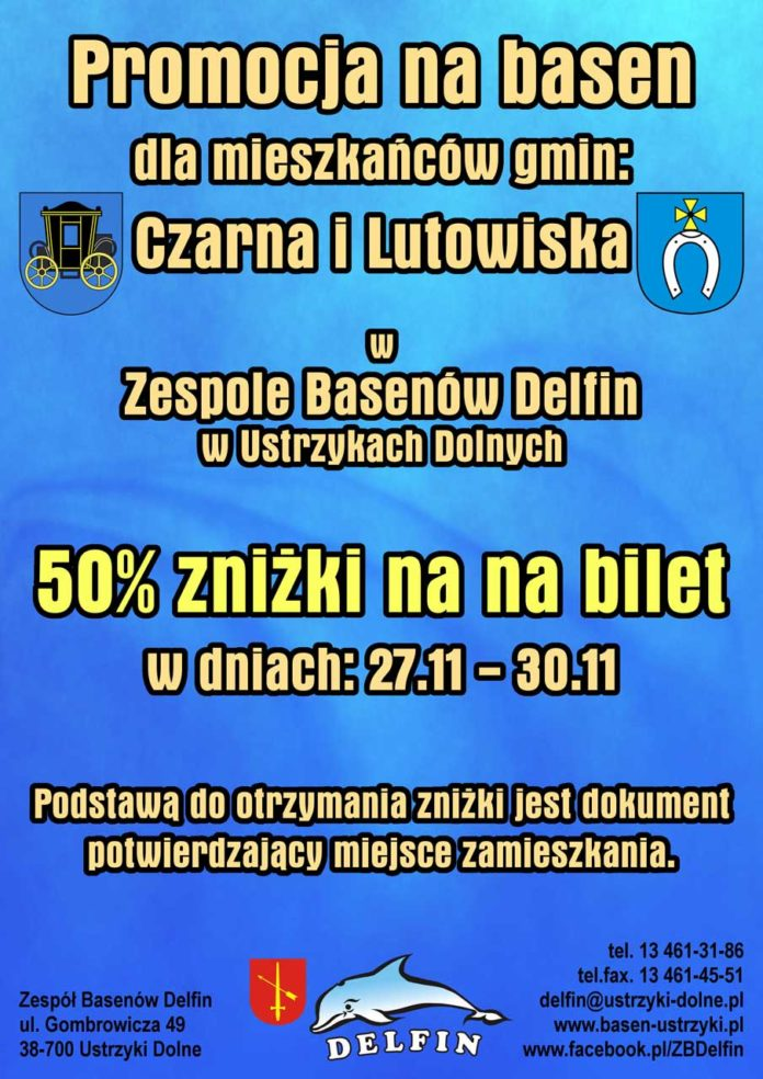 Promocja dla mieszkańców Gminy Lutowiska i Gminy Czarna