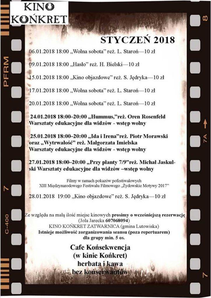 """Kino """"Końkret"""" w Zatwarnicy"""
