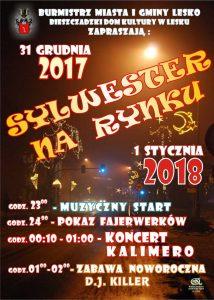Przywitanie Nowego Roku 2018 - Lesko