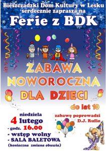 Zabawa noworoczna dla dzieci w Lesku