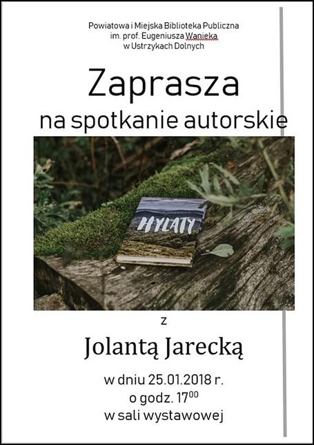 Spotkanie autorskie z Jolantą Jarecką