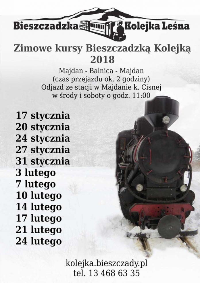 Zimowe kursy Bieszczadzką Kolejką Leśną