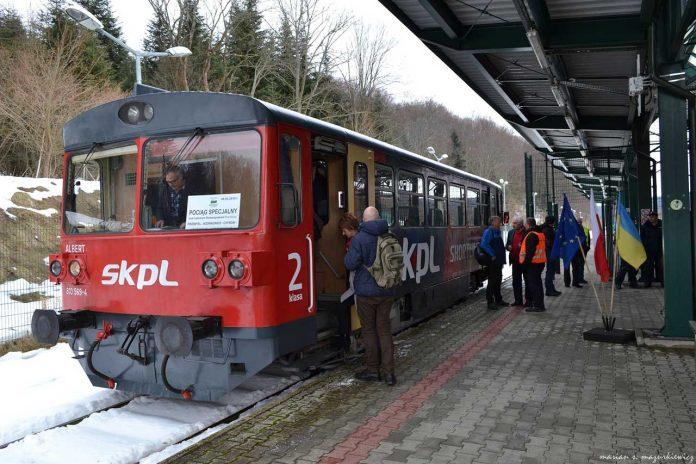 Pociąg specjalny w Ustrzykach Dolnych