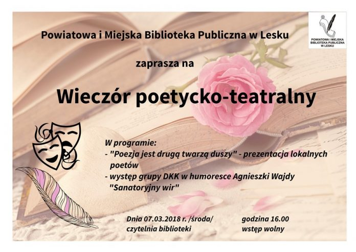 Wieczór poetycko-teatralny w Lesku