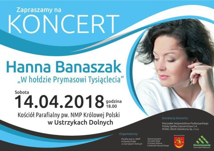 Koncert Hanny Banaszak w Ustrzykach Dolnych