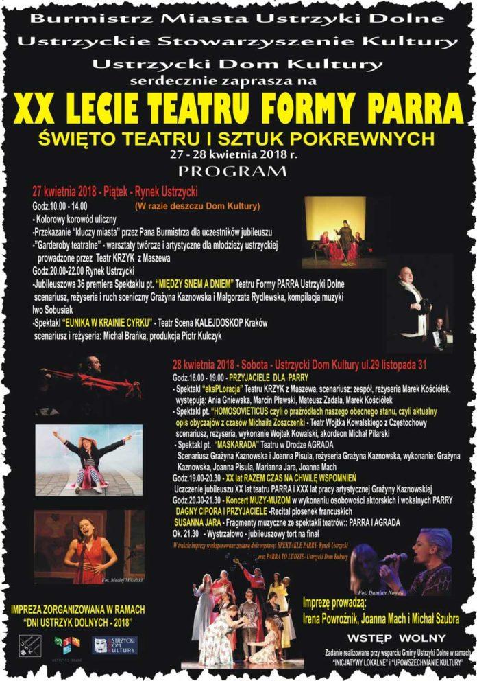 XX Lecie Teatru Formy PARRA w Ustrzykach Dolnych