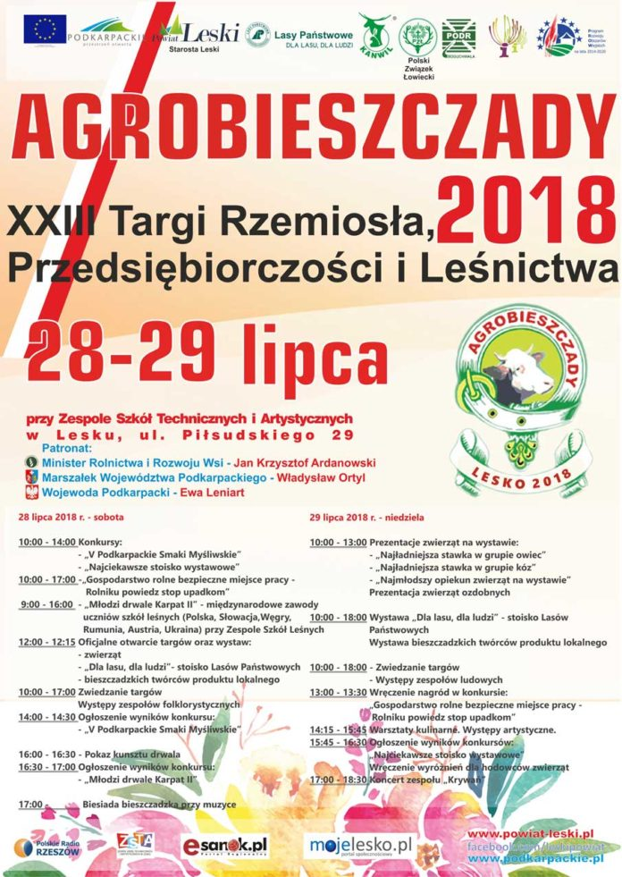Agrobieszczady 2018 – Targi Rzemiosła, Przedsiębiorczości i Leśnictwa w Lesku