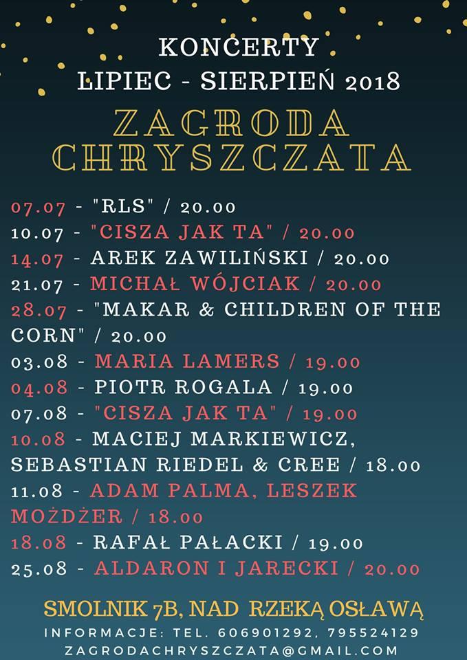 Wakacyjne koncerty w Zagrodzie Chryszczata w Smolniku