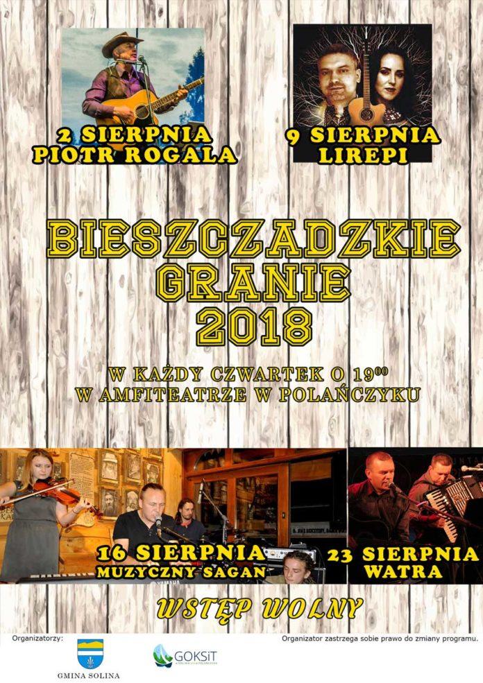 Bieszczadzkie Granie Sierpień 2018 w Polańczyku