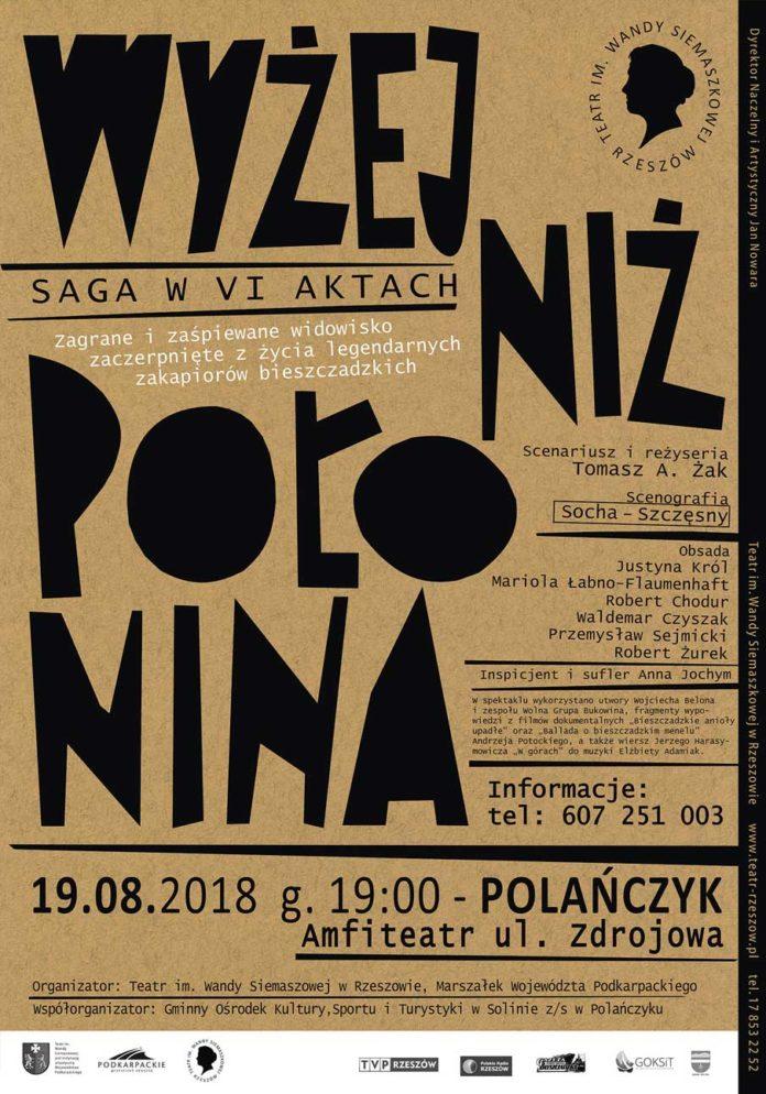Wyżej niż Połonina. Saga w VI aktach w Polańczyku