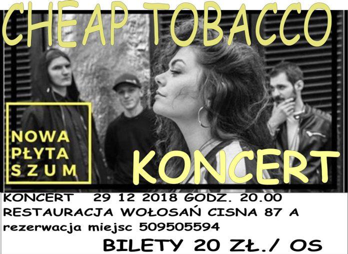 Koncert Cheap Tobacco w Cisnej