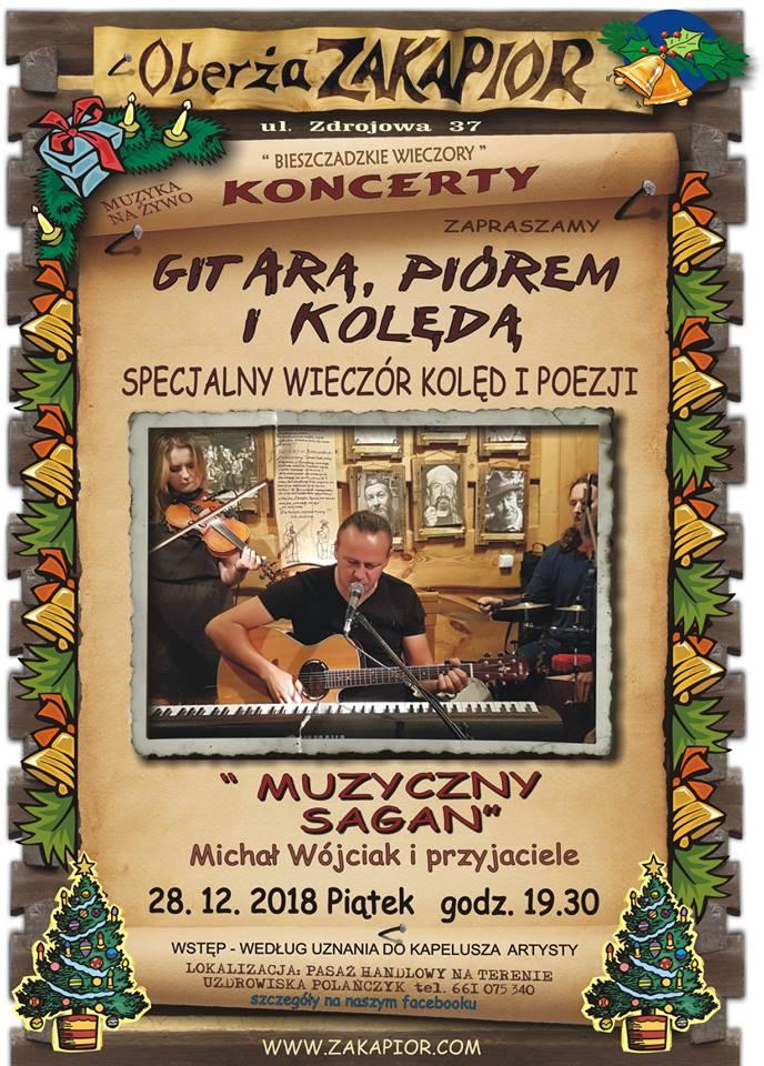 Wieczór kolęd i poezji w Oberży Zakapior w Polańczyku