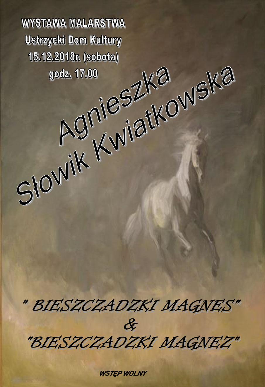 Wystawa malarstwa Agnieszki Słowik Kwiatkowskiej w Ustrzykach Dolnych