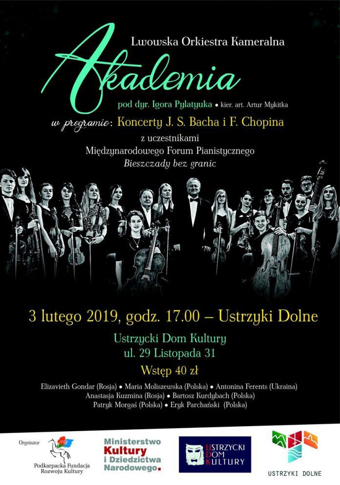 Koncert Lwowskiej Orkiestry Kameralnej AKADEMIA w Ustrzykach Dolnych