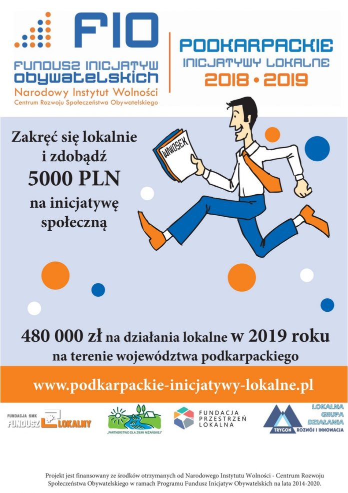 Trwa nabór wniosków w ramach projektu Podkarpackie Inicjatywy Lokalne 2019