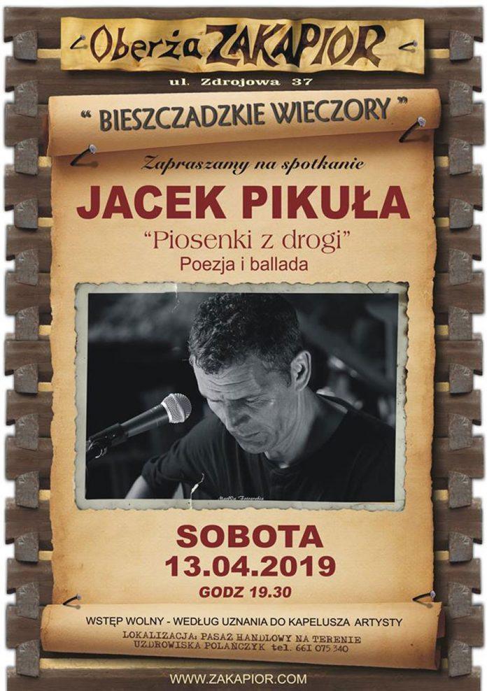Koncert Jacka Pikuły w Oberży Zakapior w Polańczyku